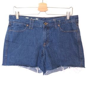 Madewell Cut Off Shorts Jeans 39 Medium Wash